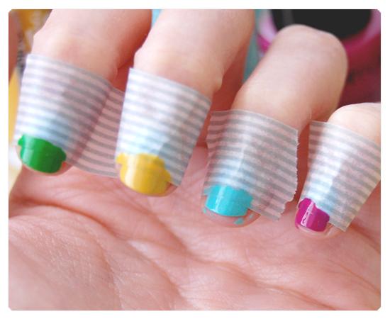 Panic nail art tuto d butant ruban marbr en 3 min - Tuto nail art debutant ...