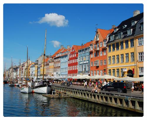 Copenhague - København - le bleurg de vanz