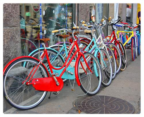 Copenhague - København - le bleurg de vanz rainbowcycle