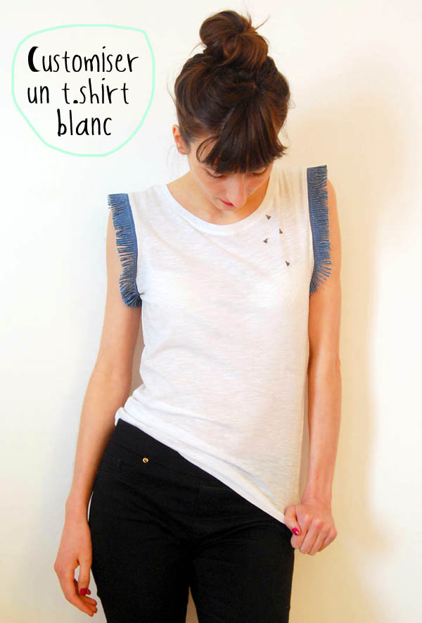 Super DIY : customiser un t-shirt blanc • Ateliers DIY ○ Tuto créatifs  WK22