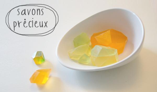 DIY savons pierres précieuses - gemstones soaps