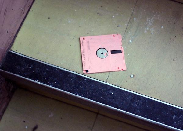 urbex disquette rose