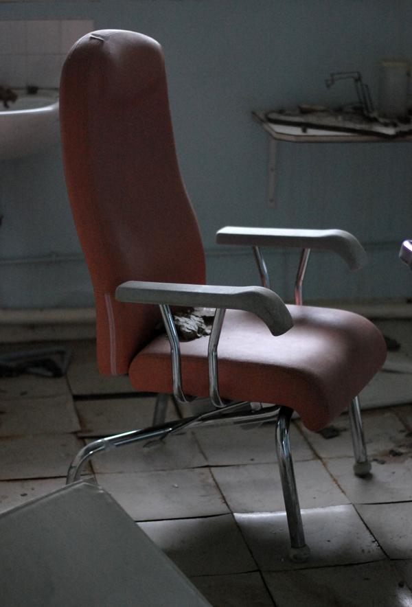 urbex fauteuil rose