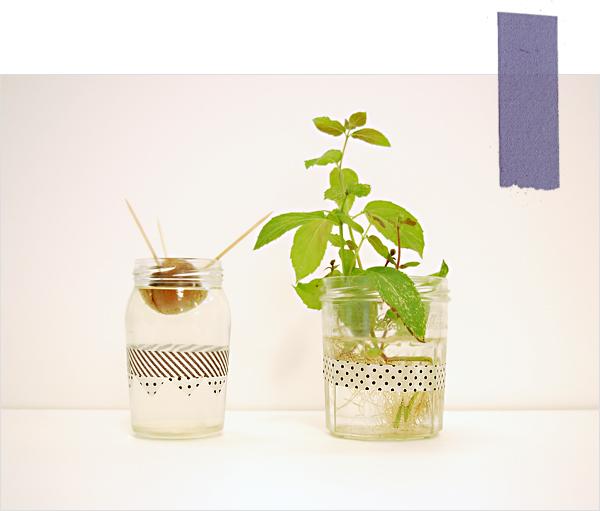 pot de fleurs bocaux masking tape