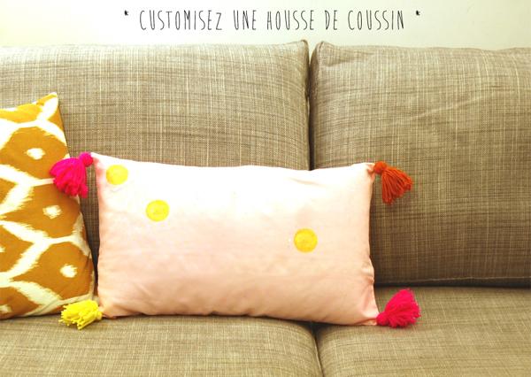 tutoriel diy customiser un coussin. Black Bedroom Furniture Sets. Home Design Ideas