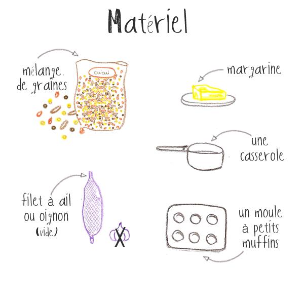 materiel pour faire des boules de graines