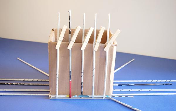 DIY panier tresse - 06 - pinces à linge