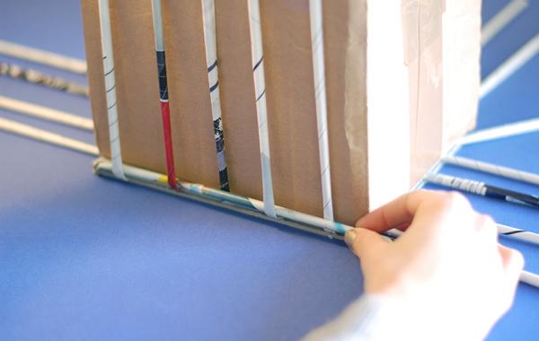 DIY panier tresse - 07 - tressage
