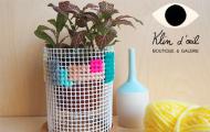 Atelier DIY : Cache-pot brodé
