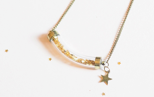 TUTO DIY collier poussières d'étoiles