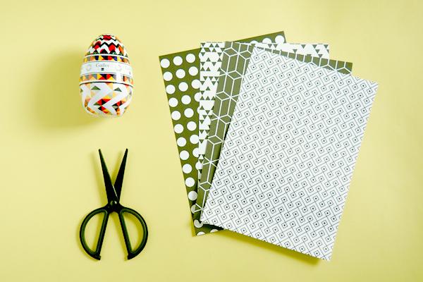 Atelier DIY : Nid origami Galler chocolatier : matériel