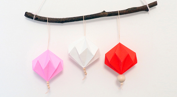 atelier diy suspension papier