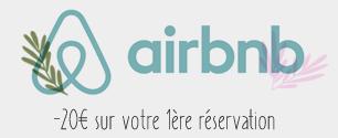 promo : 20€ sur votre réservation airbnb