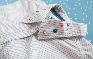 DIY chemise col brodé