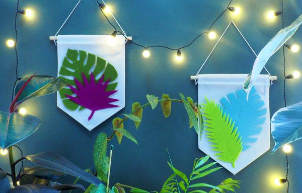 Atelier DIY bannière tropicale