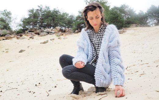 tricot gilt grosses torsades