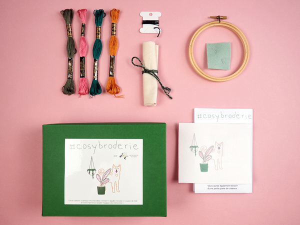 Kit broderie contemporaine