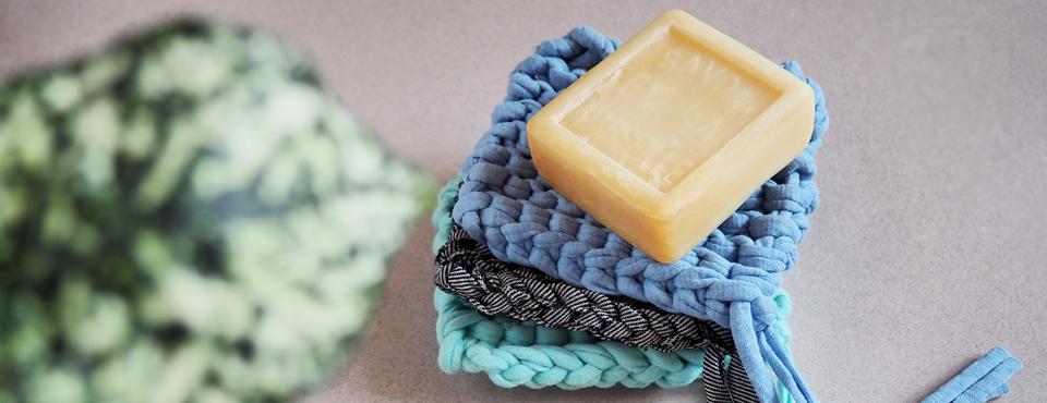 DIY tricoter éponge tawashi ecolo
