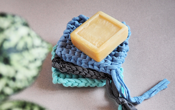DIY tricoter éponge tawwashi