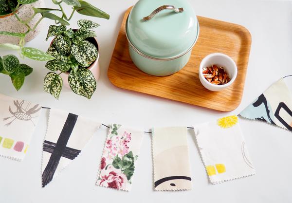 DIY guirlande sans couture en tissu recyclé