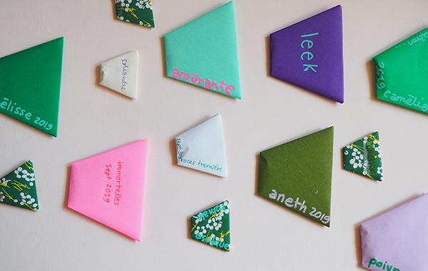 origami pochettes graines
